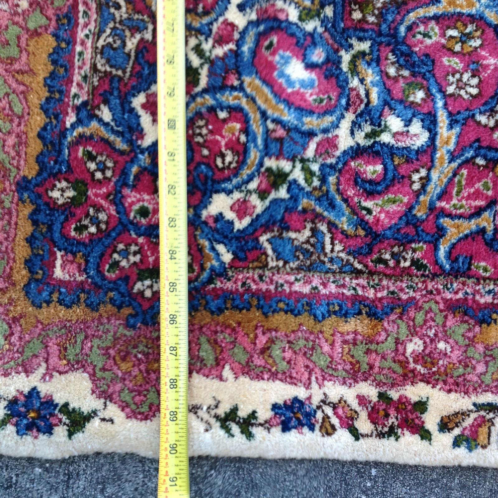 1950'S Persian Kerman Palace Wool Vegi Rug 7.5' x 18.5'