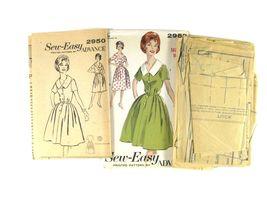 Vintage 60s Advance 2950 Misses Shirtwaist Dress Short Sleeve V-Neck 16/36 image 4