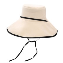 Summer Straw Hat Women Wide Brim Sun Protection Beach Hat 2019 Adjustabl... - $11.34