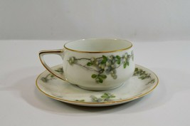 Rosenthal Donatello Mistletoe Teacup & Saucer Set Holiday Bavarian China - $31.74