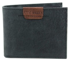 NEW STEVE MADDEN MEN'S PREMIUM LEATHER CREDIT CARD ID WALLET BLACK N80007/08