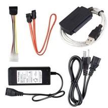 Converter Adapter Cable USB 2 to SATA S-ATA IDE 2.5 3.5 HDD Hard Drive T... - $27.68