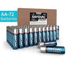Rayovac AA Batteries, Alkaline Double A Batteries 72 Battery Count - $33.55