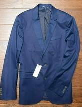 Lacoste VH7284 Hommes Coupe Standard Bleu Marine Coton Blazer Sport Vest... - $78.66