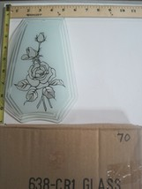 FREE US SHIP OK Touch Lamp Replacement Glass Panel Rose Flower Clear 638... - $9.75
