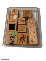 Stampin' Up! Rubber Stamps 2003 Sweet & Simple Wooden Arts Crafts Set of 9 - $9.45