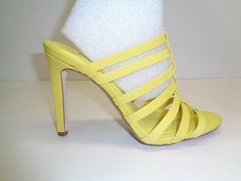 BCBG BCBGeneration Size 7 M CALLIE Yellow Leather Dress Sandals New Wome... - $78.21