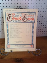 I LOVE THEE SONGS OF EDVARD GRIEG PIANO VOCAL SHEET MUSIC               ... - $9.74