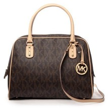 MICHAEL Kors MK Signature Brown Large Dome PVC ... - $220.00