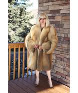 Natural Golden Island Fox Fur Coat GORGEOUS!  - $1,495.00