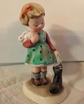 Vintage Napco  Bisque Figurine Little Mother AH 1D - $12.20
