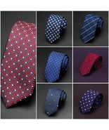 6cm Slim Men Ties Classic Man Fashion Tie Gravata Business Jacquard Dot ... - $7.99