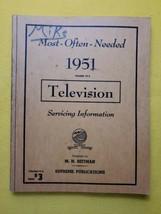 Vintage 1951 Most Often Needed Television Servicing MANUAL  Beitman Supr... - $14.50
