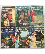 Nancy Drew 6 Lot nos.32, 33, 34, 36, 37, 38 Yellow Spine Picture Cover E... - $18.00