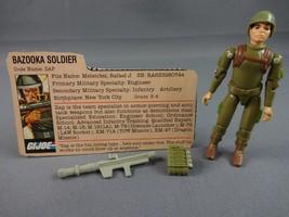 Vint GI JOE Action Figure 1982 Zap Straight Arm 100% w File Card (Broken... - $26.61