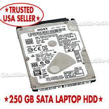 Laptop Hard Drive 250GB SATA WD Toshiba Seagate Windows HP Dell or Mac A... - $18.62