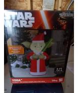 Gemmy Disney Star Wars 6 ft Yoda on Presents Airblown Inflatable NIB - $55.99