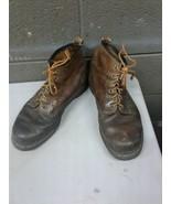 Vintage DR Martens Mens 9 Brown Leather Airwair Air Wair Ankle Boots (e23) - $60.31