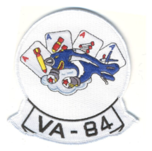 """4.5"""" NAVY VA-84 AVIATION ATTACK SQUADRON EIGHTY FOUR EMBROIDERED PATCH - $23.74"""