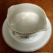 Vintage Japan Gravy Boat with attached plate made by Diane Pattern Wade Fine Por image 6