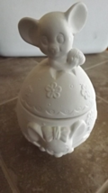 Ready to Paint, Unpainted, U Paint Ceramic Bisque Mouse Easter Egg Candy... - $4.00