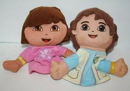 Fisher Price DORA the Explorer DIEGO 2 Dolls Hand Puppets Soft Toys Stuf... - $17.32