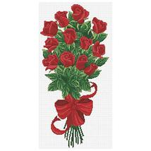 Needleart World Bouquet of Red Rose Buds No No Count Printed Cross Stitch Kit - $31.99