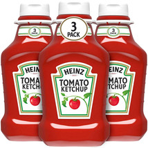 Heinz Tomato Ketchup Pack of 3 Squeeze Bottles 44 oz. Each, FREE SHIPPIN... - $12.06