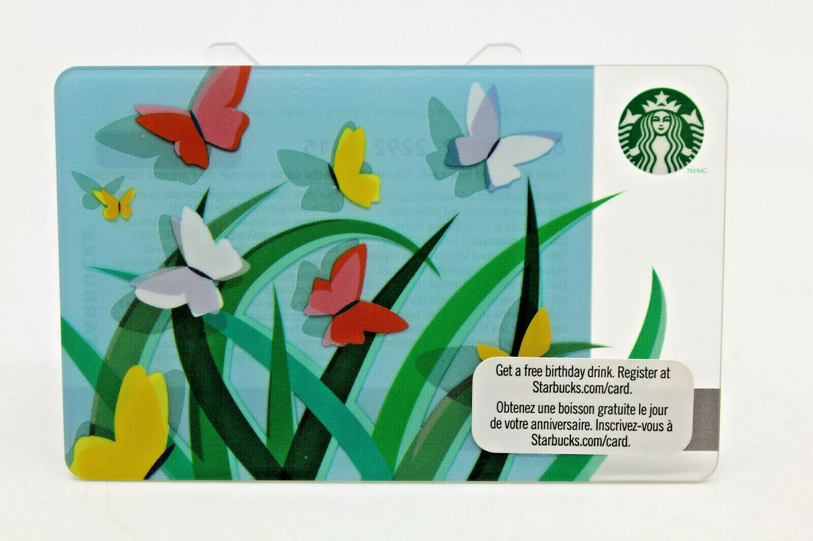 Primary image for Starbucks Coffee 2011 Gift Card Spring Butterflies Colorful Zero Balance