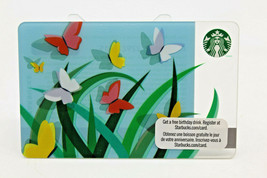 Starbucks Coffee 2011 Gift Card Spring Butterflies Colorful Zero Balance - $11.27