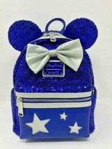 Disney Parks Loungefly Mini Backpack Wishes Come True Blue Make a Wish S... - $85.13