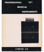 ORIGINAL Vintage 1971 Carvin Professional Music Instruments Catalog - $29.69