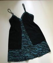 Silence And Noise Urban Outfitters Teal Black Babydoll Mini Tea Dress Si... - £9.35 GBP