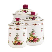 Royal Albert Old Country Roses 3 PIECE CANISTER SET NEW   (s) - $74.79