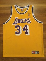 Authentic 1998 Nike Los Angeles Lakers Shaquille O'Neal Shaq Home Gold Jersey 52 - $399.99