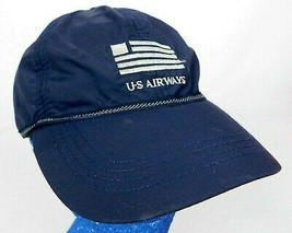 US Airways Blue Baseball Cap Hat Nylon Snapback Box Shipped - $16.99