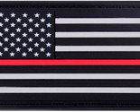 "Red White Blue US American Flag with Black Border 1 7/8"" x 3 3/8"""