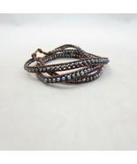 Chan Luu Brown Leather Triple Wrap Bracelet 0913GH - $75.00