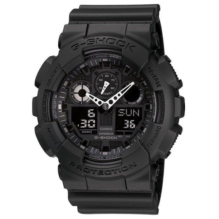 Used, Casio G-Shock Alarm Chronograph Black Ops Watch GA100-1A1 Wristwatch for sale  USA