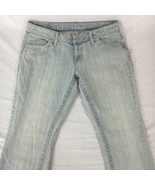 Marithe Francois Girbaud Womens Jeans Straight Leg Light Wash Distressed... - $28.69