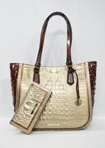SET Brahmin Medium Lena Tote/Shoulder Bag + Ady Wallet in Rose Gold Provence - $449.00