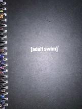 **Black [adult swim] Hardcover Notebook Twin Spiral Wirebound Cartoon Ne... - $18.59