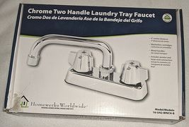 Homewerks Worldwide 16U42WNCHB Chrome Two Handle Laundry Tray Faucet image 6