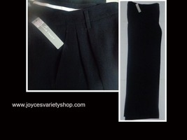 Women's Ellen Tracy Black Slacks Dress Pants Sz 6 - $18.99