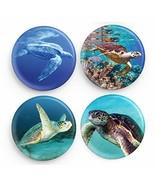 "Endangered species Sea Turtles 4-Button Set 1.25"" round pinback buttons ... - $6.21"