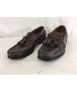 Johnston & Murphy Aragon II Mens 9M Brown Black Leather Tassel Sheltie L... - $24.75