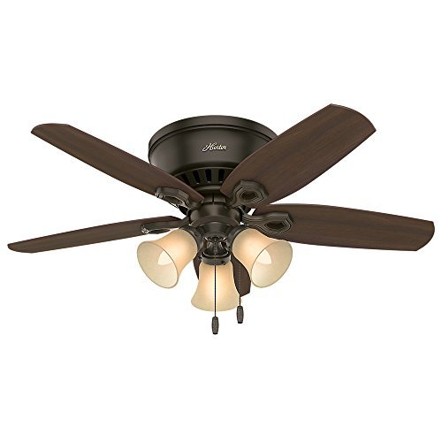 Hunter Fan Company 51091 Hunter Builder Indoor Low Profile Ceiling Fan with LED  - $129.99