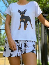 Dog Pinscher pajama set with shorts for women - $30.00