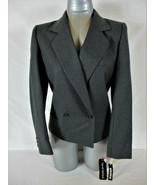 HARVE BENARD womens Sz 6 L/S gray white 100% WOOL fully lined jacket NWT... - $68.88