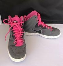 Nike Dunk Free Size 9 Grey Pink Black Basketball Tennis Shoe Leather Sol... - $49.50